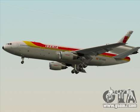 McDonnell Douglas DC-10-30 Iberia for GTA San Andreas side view