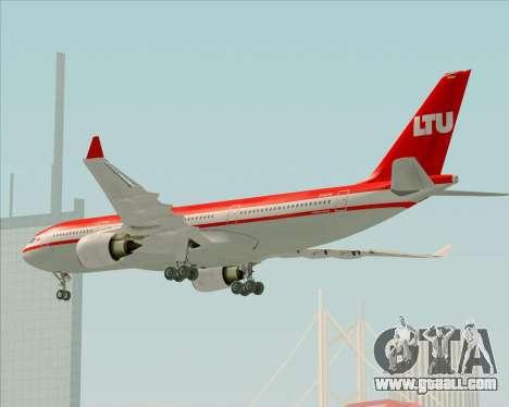 Airbus A330-200 LTU International for GTA San Andreas upper view