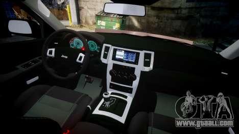 Jeep Grand Cherokee SRT8 rim lights for GTA 4 back view