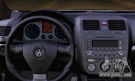 Volkswagen Golf 5 (ELM) for GTA San Andreas back left view