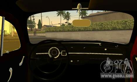 Volkswagen Fusca 1976 Rust Camber for GTA San Andreas back left view