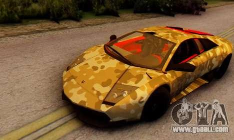 Lamborghini Murcielago Camo SV for GTA San Andreas left view