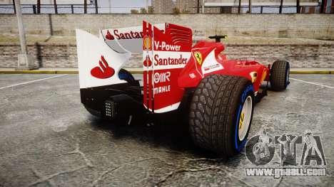 Ferrari F138 v2.0 [RIV] Massa TFW for GTA 4 back left view