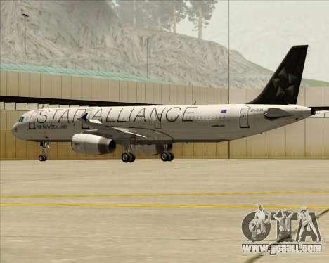 Airbus A321-200 Air New Zealand (Star Alliance) for GTA San Andreas