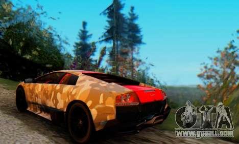 Lamborghini Murcielago Camo SV for GTA San Andreas right view