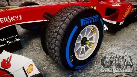 Ferrari F138 v2.0 [RIV] Massa TFW for GTA 4 back view