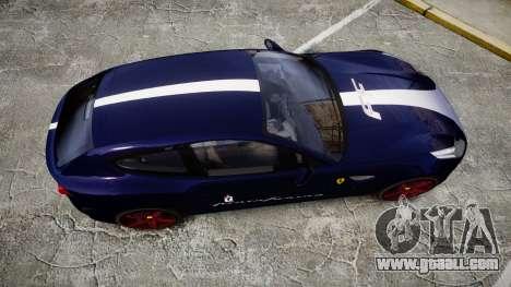 Ferrari FF 2012 Pininfarina Blue for GTA 4 right view