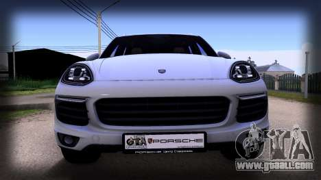 Porsche Cayenne 2015 for GTA San Andreas back left view