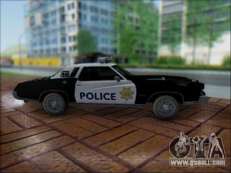 Chevrolet Monte Carlo 1973 Police for GTA San Andreas inner view
