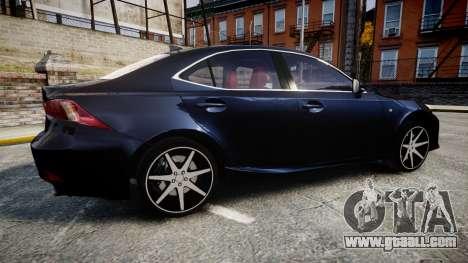 Lexus IS 350 F-Sport 2014 Rims2 for GTA 4 left view