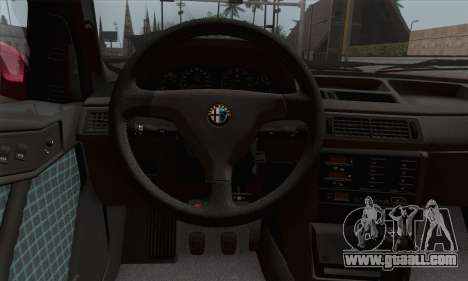 Alfa Romeo 155 Q4 1992 Stock for GTA San Andreas back left view