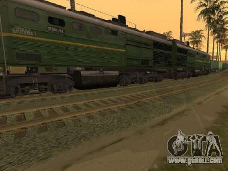 Locomotive 2TE10L-079 for GTA San Andreas back left view