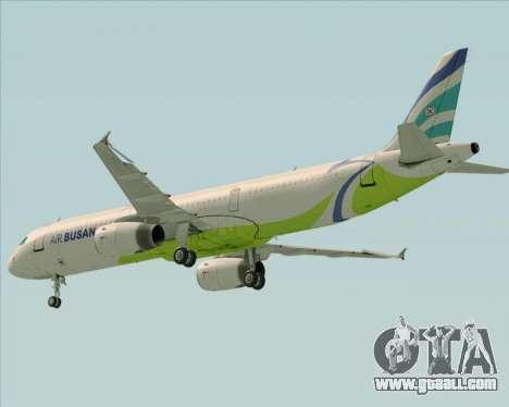 Airbus A321-200 Air Busan for GTA San Andreas upper view