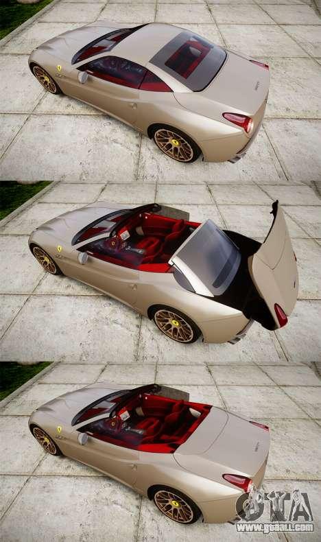 Ferrari California [EPM] for GTA 4 side view