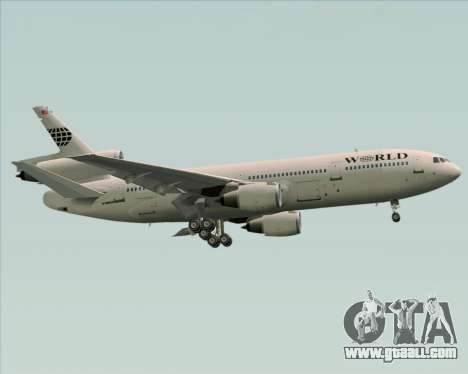 McDonnell Douglas DC-10-30 World Airways for GTA San Andreas side view