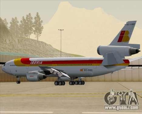 McDonnell Douglas DC-10-30 Iberia for GTA San Andreas engine