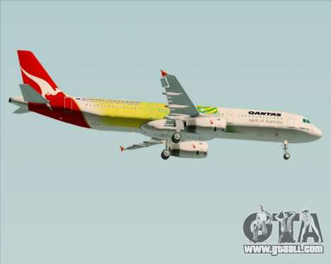 Airbus A321-200 Qantas (Socceroos Livery) for GTA San Andreas right view