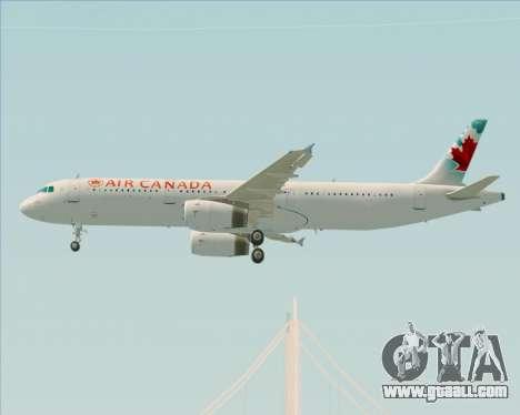 Airbus A321-200 Air Canada for GTA San Andreas inner view