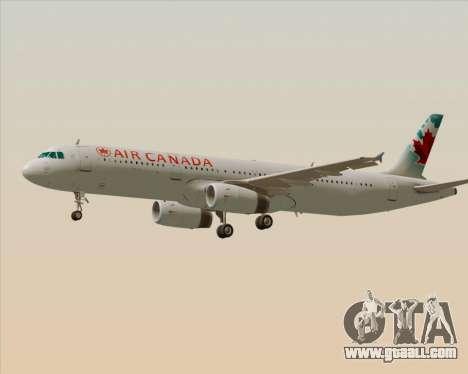 Airbus A321-200 Air Canada for GTA San Andreas upper view