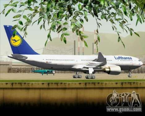 Airbus A330-200 Lufthansa for GTA San Andreas back view