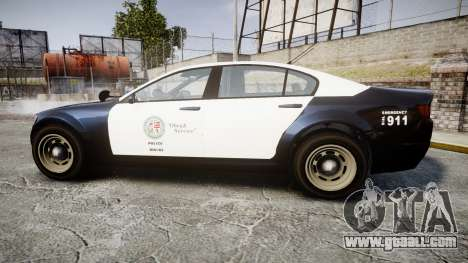GTA V Cheval Fugitive LS Police [ELS] Slicktop for GTA 4 left view