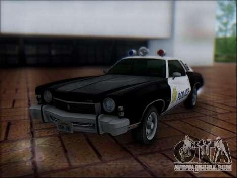 Chevrolet Monte Carlo 1973 Police for GTA San Andreas