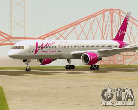 Boeing 757-230 VIM Airlines (VIM) for GTA San Andreas back left view