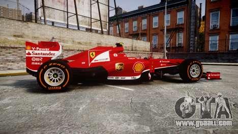 Ferrari F138 v2.0 [RIV] Massa THD for GTA 4 left view