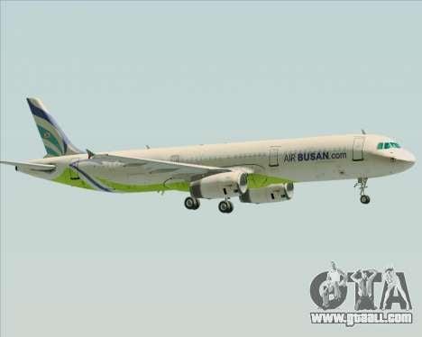 Airbus A321-200 Air Busan for GTA San Andreas bottom view