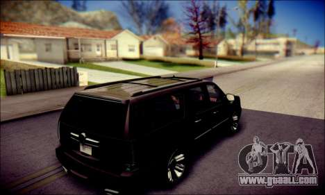Cadillac Escalade Ninja for GTA San Andreas bottom view