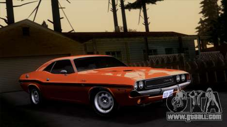Dodge Challenger 426 Hemi (JS23) 1970 (ImVehFt) for GTA San Andreas side view
