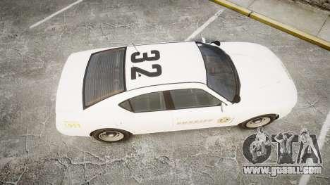 GTA V Bravado Buffalo LS Sheriff White [ELS] Sli for GTA 4 right view