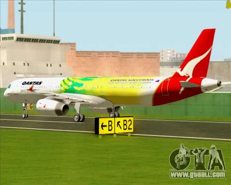 Airbus A321-200 Qantas (Socceroos Livery) for GTA San Andreas back view