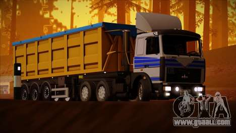 Tipper semitrailer BODEX Bigcargo for GTA San Andreas left view