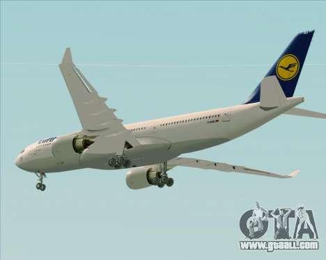 Airbus A330-200 Lufthansa for GTA San Andreas engine