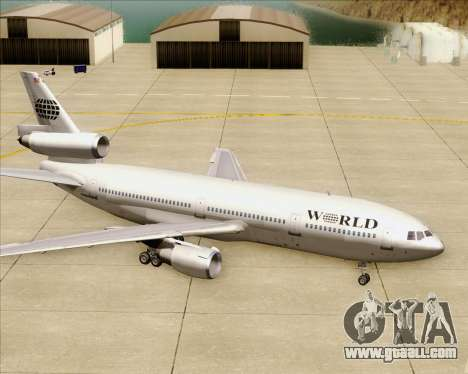 McDonnell Douglas DC-10-30 World Airways for GTA San Andreas wheels