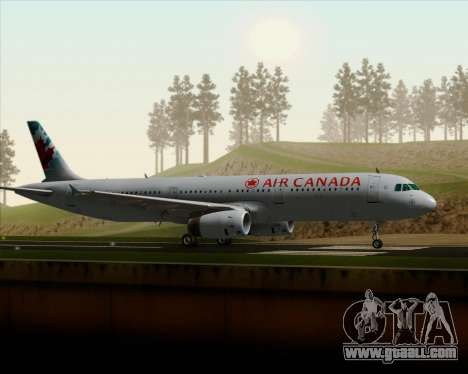 Airbus A321-200 Air Canada for GTA San Andreas