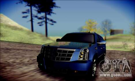 Cadillac Escalade Ninja for GTA San Andreas upper view