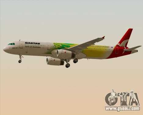 Airbus A321-200 Qantas (Socceroos Livery) for GTA San Andreas inner view