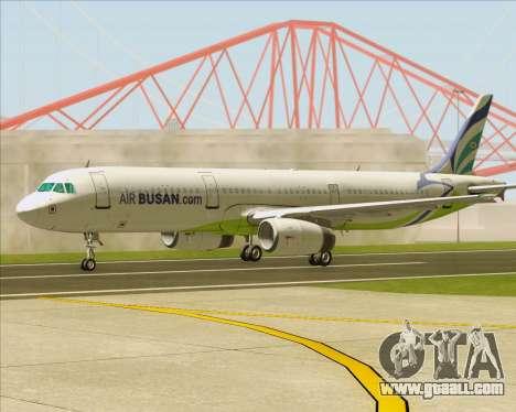Airbus A321-200 Air Busan for GTA San Andreas side view