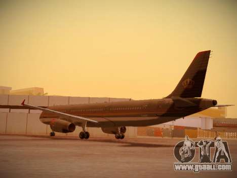 Airbus A321-232 Royal Jordanian Airlines for GTA San Andreas back left view
