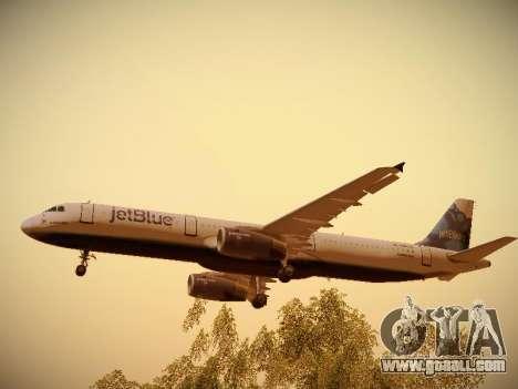 Airbus A321-232 jetBlue La vie en Blue for GTA San Andreas engine