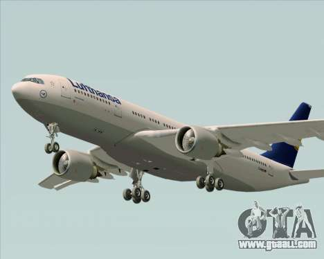 Airbus A330-200 Lufthansa for GTA San Andreas inner view