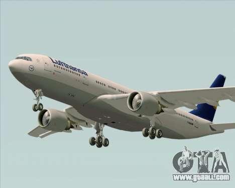 Airbus A330-200 Lufthansa for GTA San Andreas inner view