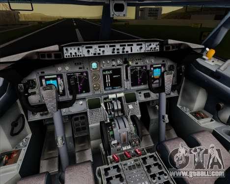 Boeing 737-800 Orbit Airlines for GTA San Andreas interior