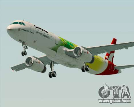 Airbus A321-200 Qantas (Socceroos Livery) for GTA San Andreas back left view