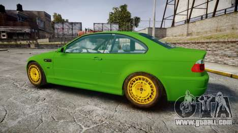 BMW M3 E46 2001 Tuned Wheel Gold for GTA 4 left view