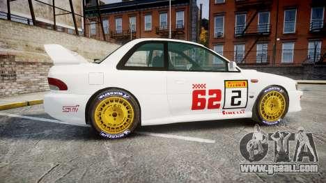 Subaru Impreza WRC 1998 SA Competio for GTA 4 left view