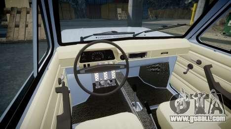 ZAZ-968 for GTA 4 inner view