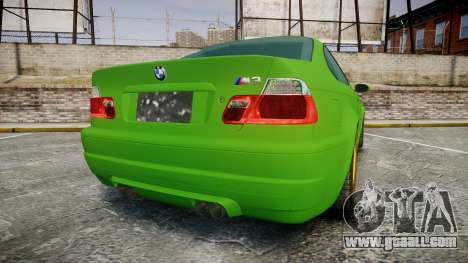 BMW M3 E46 2001 Tuned Wheel Gold for GTA 4 back left view